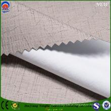 Jacquard Poliéster Flame-Resistant Revestido Flocagem Shading Cortina Tecido