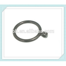 PACK OF 10 CURTAIN CAFE ROD RINGS PLASTIC 28MM BLACK_