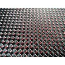 De Bonne Qualité Feuilles et plaques de fibre de carbone aluminisé rouge