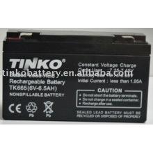 plomo ácido 6v 6.5ah batería con buena calidad