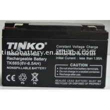 lead acid 6v 6.5ah battery with good quality