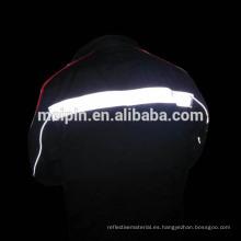 Tubería reflectante de seguridad de alta visibilidad para los uniformes