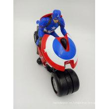 Motocicleta eléctrica de 2.4GHz de la motocicleta de los niños del mini de Capitán América