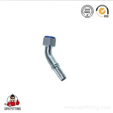20641 métrique métrique raccords hydrauliques métriques femelles joint plat à sertir