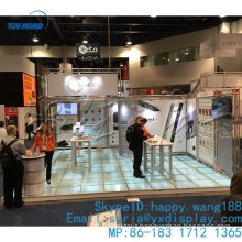 Aluminum frame glass floor,toughed glass floor with led lights