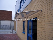 Outdoor Glass Door Canopy Awning with Stainless Steel Bracket