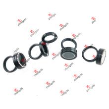 Moda de metal negro anillos Locket para regalos de Navidad (BLR51204)