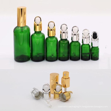 Flacon compte-gouttes en verre en usine (NBG04)