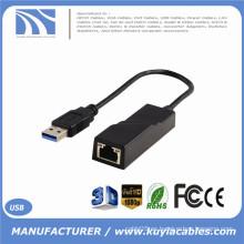 Adaptador de red USB 3.0 a 10/100/1000 RJ45 Gigabit Ethernet LAN para PC portátil