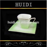 Wholesale good market new bone china 220cc coffee cup and saucer set with color