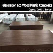 Schimmel beständige hölzerne Plastik-zusammengesetzte WPC-Boden-Co-Verdrängung Decking