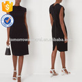 New Fashion Black Sleeveless Pencil Dress With Lace Top Manufacture Wholesale Fashion Women Apparel (TA5300D)