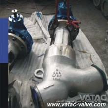 Y тип литой стали Cl150 стыковой сварки стоп и глобус клапан