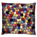 Colour mixture wool  coil style cushion