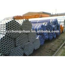 Tuyau en acier galvanisé à chaud BS1387 / ASTM A53 GrB / Q235 / SS400