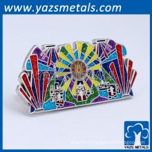 Promotion hard enamel glow glitter lapel pins