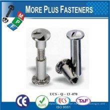 Made In Taiwan Stainless Steel Male and Female Security Screw Six Lobe and a Pin Head Security Screw One way Head Sex Screw