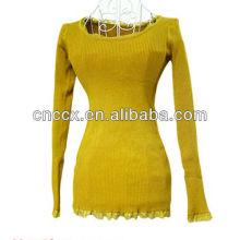 13STC5044 pull tricoté femme avec pull tunique en dentelle
