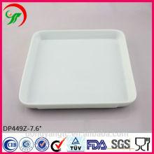 Porzellan Bankett Teller, Porzellanteller, tägliche Verwendung weißer Porzellan Teller für Hotel