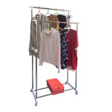 Rack de secagem tipo barra paralela de aço inoxidável