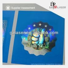Custom adhesive hologram textile sticker labels supplier