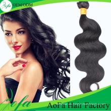 Trama brasileña no procesada del pelo humano del pelo de la Virgen de la onda 100% sin procesar del grado superior