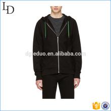 Negro con cremallera cálida y ajustada sudaderas gruesas 80% algodón 20 sudaderas con capucha de poliéster