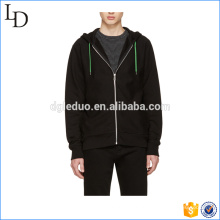 Preto com zíper quente e montagem hoodies grosso 80% algodão 20 hoodies de poliéster