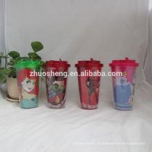 hermosa tazas de plástico 300ml alta calidad