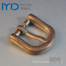 Small D Pin Buckles com Antique Gold Plating Cor para Sapatos, Cintos e Bolsas (20mmx20mm)