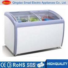 Морозильник мороженого мороженого стеклянной двери супермаркета R134A раздвижной