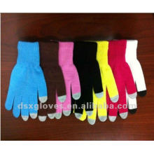 cotton knitted iphone gloves