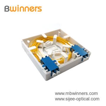 FTTH 2 Port Mini Terminal Box Fiber Optic Faceplate Wall Mounted Socket