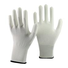 NMSAFETY 13 calibre tricoté revêtement blanc pu gants à vendre