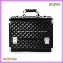 Large Volume Metal Frame Black ABS Surface Makeup Suitcase (SACMC003)