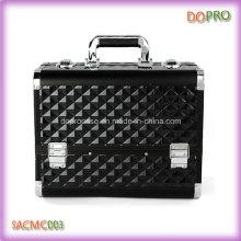 Большой объем металлической рамы Черного ABS поверхность макияж чемодан (SACMC003)