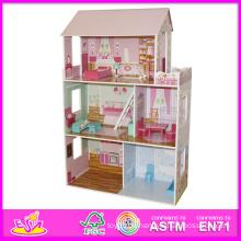 2014 Kinder Spielzeug, Beartiful Prinzessin Holzpuppenhaus, heißer Verkauf Kinder Spielzeug, hohe Qualität Kinderspielzeug W06A044