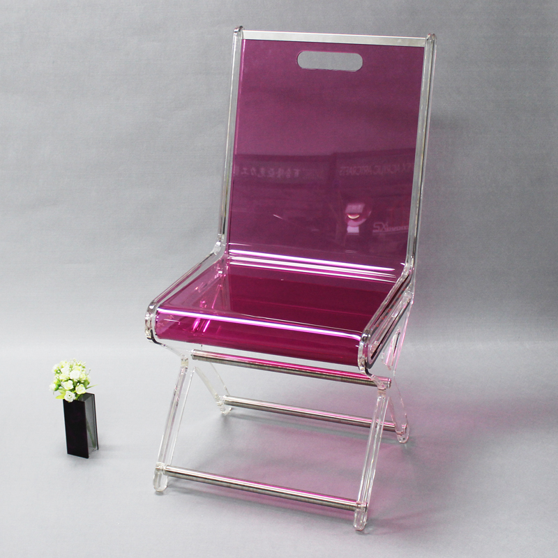 Wholesale single-person landing red cheap plastic acrylic chair