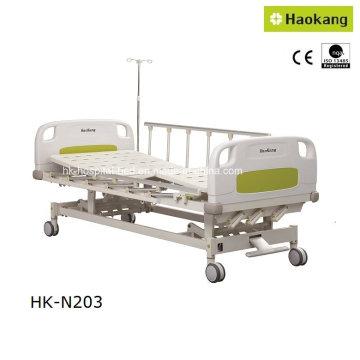 HK-N203 Cama de hospital manual de tres funciones (cama médica / equipo médico / cama paciente)