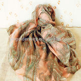 100% polyester printed scarf for women 2014
