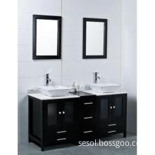 double basins wooden  bathroom cabinet OL-384