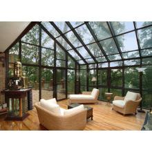 Woodwin Hot Vendeur sécurité Verre Aluminium Maison en verre