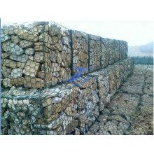 Gavión de malla de alambre hexagonal recubierto de PVC 1X1X0.5m
