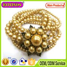 2016 Mulheres Beads Flor Vintage Retro Wrap Bracelet