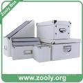 Classic White Caja de almacenamiento de la Oficina / Caja Organizador de escritorio