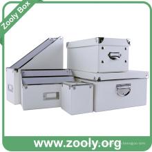 Boîte de rangement classique pour ordinateur blanc / boîte de création de bureau