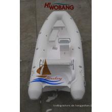 4.7m Fiberglas-Rippen-Boot mit Konsole zu verkaufen