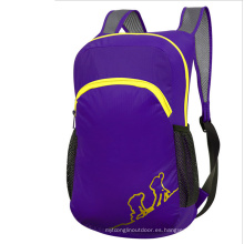 Bolsa plegable púrpura al aire libre, mochila para niños