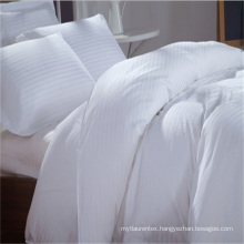 Bed linen retail and wholesale TC300 stripe flat sheets