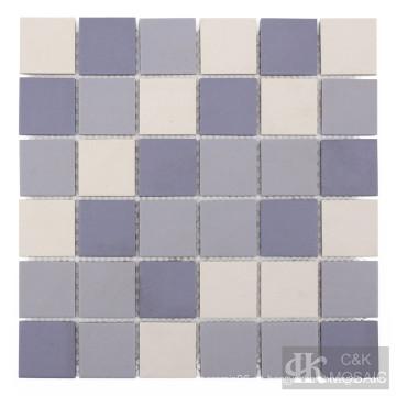 Azulejo de mosaico de cerámica púrpura para pared